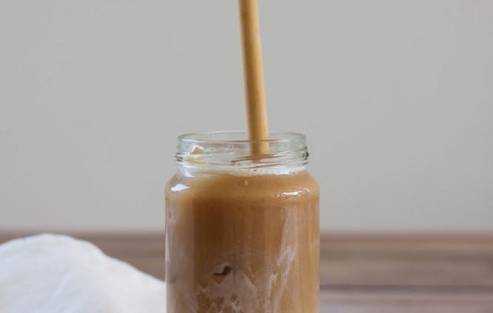 Vegan iced latte